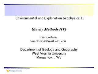 Environmental and Exploration Geophysics II