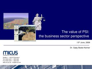 The value of PSI:  the business sector perspective