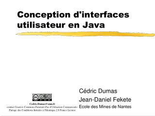 Conception d'interfaces utilisateur en Java
