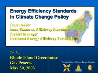 Energy Efficiency Standards in Climate Change Policy  Presented by: