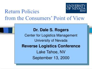 Return Policies from the Consumers' Point of View