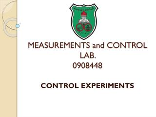 MEASUREMENTS and CONTROL  LAB.  0908448