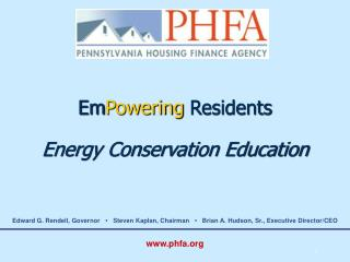 Em Powering  Residents Energy Conservation Education