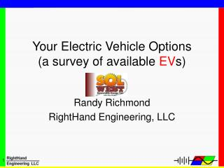 Your Electric Vehicle Options (a survey of available  EV s)