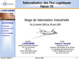 Stage de Valorisation Industrielle