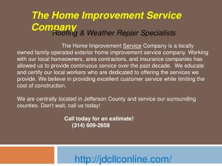 Roof Inspection, Repairs & Roof Replacement and Home Mainten
