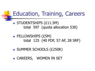 Education, Training, Careers