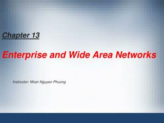 Chapter 13 Enterprise and Wide Area Networks