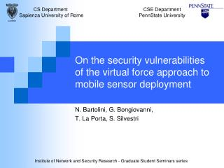 On the security vulnerabilities  of the virtual force approach to mobile sensor deployment
