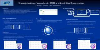 Characterization of second-order PMD in chirped fiber Bragg gratings