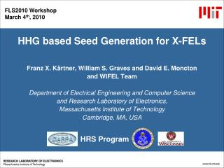 HHG based Seed Generation for X-FELs