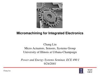 Micromachining for Integrated Electronics