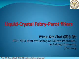 Liquid-Crystal  Fabry -Perot filters