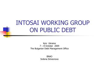 INTOSAI WORKING GROUP ON PUBLIC DEBT