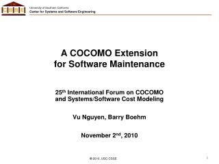 A COCOMO Extension  for Software Maintenance