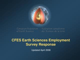 CFES Earth Sciences Employment Survey Response