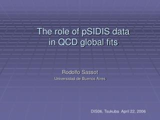 The role of pSIDIS data in QCD global fits