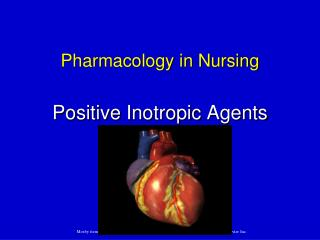 Pharmacology in Nursing