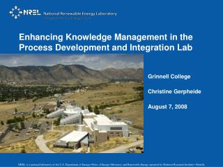 Enhancing Knowledge Management in the Process Development and Integration Lab