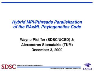 Hybrid MPI/Pthreads Parallelization of the RAxML Phylogenetics Code