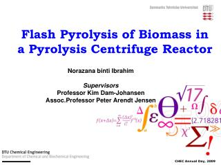 Flash Pyrolysis of Biomass in a Pyrolysis Centrifuge Reactor