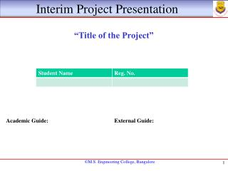 Interim Project Presentation