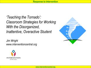'Teaching the Tornado': Agenda…