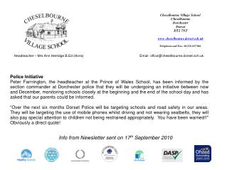 Headteacher – Mrs Ann Herridge B.Ed (Hons)