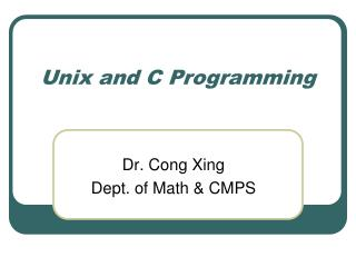 Unix and C Programming