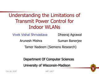 Understanding the Limitations of Transmit Power Control for Indoor WLANs