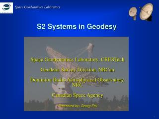 S2 Systems in Geodesy