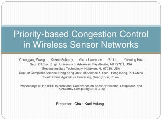 Priority-based Congestion Control in Wireless Sensor Networks