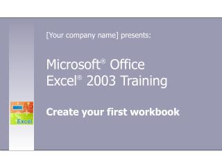 Microsoft ®  Office  Excel ®  2003 Training