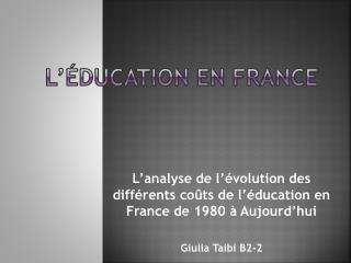L'éducation en France