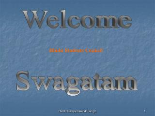 Welcome Swagatam