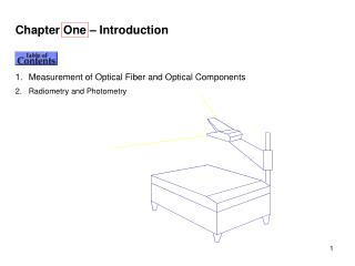 Chapter One – Introduction Contents Measurement of Optical Fiber and Optical Components