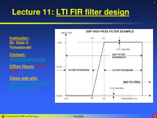Lecture 11:  LTI FIR filter design