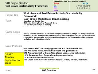 Sustainability Community R&D Committee