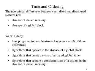 Time and Ordering