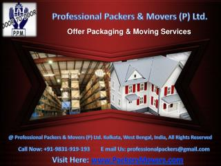 Professional Packers And Movers Delhi - www.PackersMovers.co