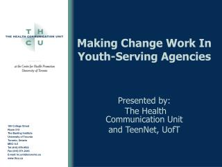 Making Change Work In Youth-Serving Agencies