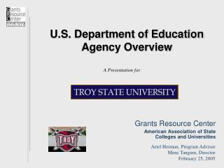 U.S. Department of Education Agency Overview