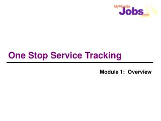 One Stop Service Tracking