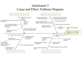 Attachment 3 Cause and Effect: Fishbone Diagram