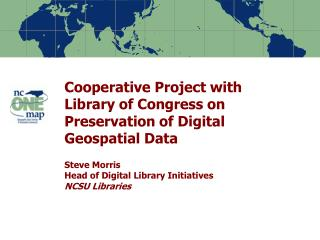 NC Geospatial Data Archiving Project (NCGDAP)