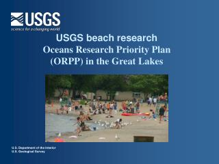 USGS beach research  Oceans Research Priority Plan (ORPP) in the Great Lakes