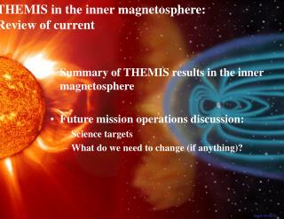 Summary of THEMIS results in the inner magnetosphere Future mission operations discussion: