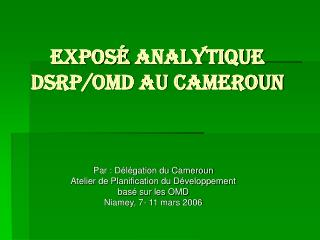 Expos  analytique  DSRP
