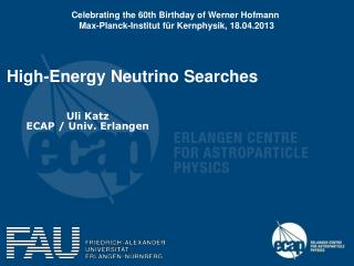 High-Energy Neutrino Searches