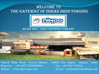 The Gateway of Indian Drop Forging
